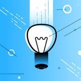 Sumário da ideia do simbol da lâmpada Foto de Stock Royalty Free