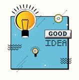 Sumário da ideia do simbol da lâmpada Imagens de Stock