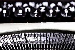 Sumário da máquina de dactilografia Fotografia de Stock