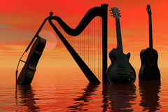 Sumário da música. Fotos de Stock