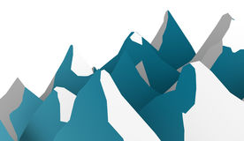 Sumário da montanha rendido no fundo branco ilustração stock