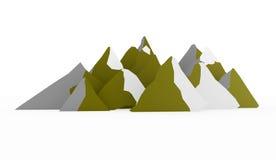 Sumário da montanha rendido no fundo branco ilustração do vetor