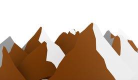 Sumário da montanha rendido no fundo branco ilustração royalty free