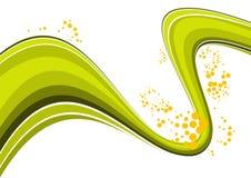 Sumário da onda verde Foto de Stock Royalty Free