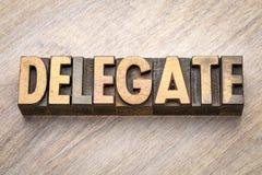 Sumário da palavra do delegado no tipo de madeira fotos de stock royalty free