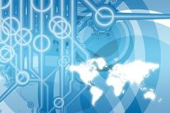 Sumário da tecnologia do negócio global ilustração do vetor