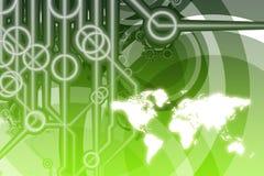 Sumário da tecnologia do negócio global Foto de Stock