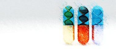Sumário da terapia genética ilustração do vetor