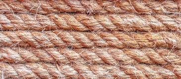 Sumário da textura do teste padrão do fundo da corda Imagem de Stock