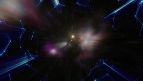 Sumário da urdidura ou do movimento hyperspace na fuga da estrela azul estoque Movemen de explosão e de expansão Animação do laço ilustração royalty free