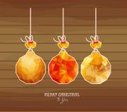 Sumário das bolas do Natal isolado no fundos brancos ilustração do vetor