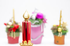 Sumário das decorações do Natal Imagem de Stock Royalty Free