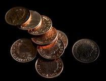 Sumário das moedas Foto de Stock Royalty Free