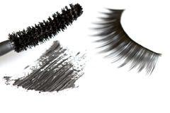 Sumário das pestanas e dos cosméticos da sombra para os olhos Fotografia de Stock Royalty Free