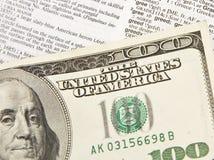Sumário de Bill de dólar 100 - avidez Fotografia de Stock Royalty Free