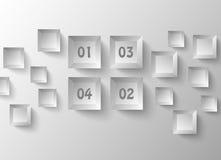 Sumário de Infographics, dados geométricos dos quadrados Fotografia de Stock