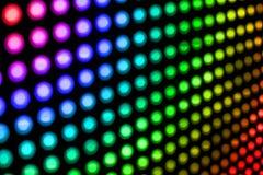 Sumário de luzes de bulbo coloridas Foto de Stock