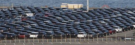 Sumário de muitos carros Fotografia de Stock