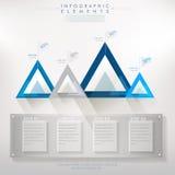 Sumário de papel moderno colorido do triângulo infographic ilustração stock
