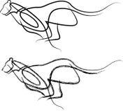 Sumário de salto do canguru ilustração royalty free