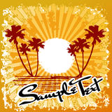 Sumário de Sun da praia do oceano ilustração do vetor