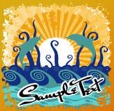Sumário de Sun da praia do oceano ilustração stock