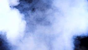 Sumário denso bonito nuvens de fumo borradas video estoque