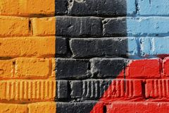 Sumário detal do close-up urbano do projeto da arte da rua Parede de Graffity Cultura urbana icónica moderna, teste padrão à moda Imagem de Stock Royalty Free