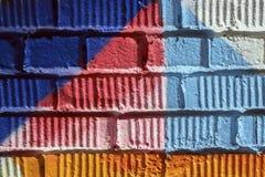 Sumário detal do close-up urbano do projeto da arte da rua Parede de Graffity Cultura urbana icónica moderna, teste padrão stylis Imagens de Stock Royalty Free