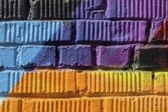 Sumário detal do close-up urbano do projeto da arte da rua Parede de Graffity Cultura urbana icónica moderna, teste padrão gráfic Fotografia de Stock Royalty Free