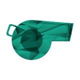 Sumário do ícone do futebol americano do assobio do árbitro geométrico Imagem de Stock