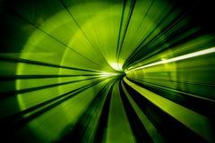 Sumário do borrão de movimento - em um título subterrâneo do túnel para fotografia de stock