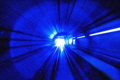 Sumário do borrão de movimento - em um título subterrâneo do túnel para imagens de stock royalty free