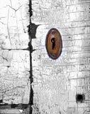 Sumário do buraco da fechadura de Colorized Imagens de Stock