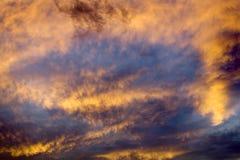 Sumário do céu no por do sol Missoula Montana imagem de stock