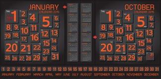 Sumário do calendário 2015 e fundo da arte Fotografia de Stock Royalty Free