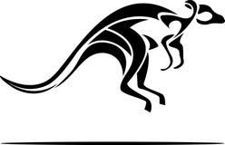 Sumário do canguru ilustração stock