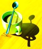 Sumário do copo de café fotografia de stock
