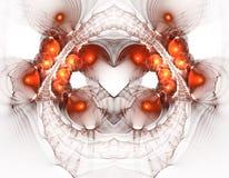Sumário do Fractal de Rusty Heart e dos círculos imagem de stock royalty free