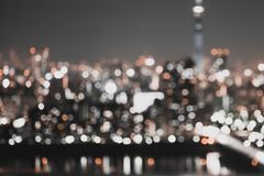 Sumário do fundo da luz da cidade do borrão Fotografia de Stock Royalty Free