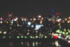Sumário do fundo da luz da cidade do borrão Fotografia de Stock