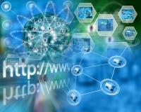 Sumário do Internet Foto de Stock