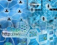 Sumário do Internet Imagem de Stock
