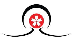 Sumário do logotipo do japonês da ilustração imagens de stock royalty free