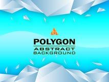 Sumário do projeto de conceito do polígono, ilustração do vetor Imagens de Stock Royalty Free