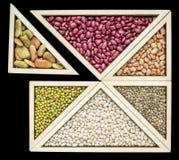 Sumário do tangram do feijão e da lentilha Imagem de Stock Royalty Free