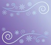 Sumário do vento e da neve ilustração stock