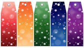 Sumário do vetor Tabelas de preços, etiqueta Venda do inverno Foto de Stock Royalty Free