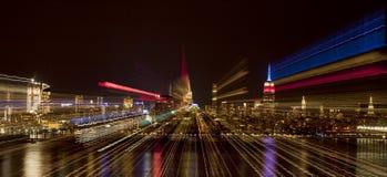 Sumário do zumbido da skyline de New York City Imagens de Stock