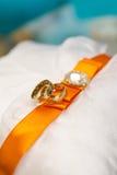 Sumário dos anéis de casamento Imagem de Stock Royalty Free